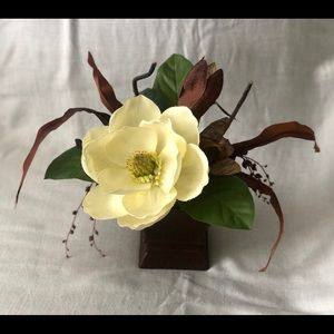 Artificial Flowers Composition With Pot Home Decor